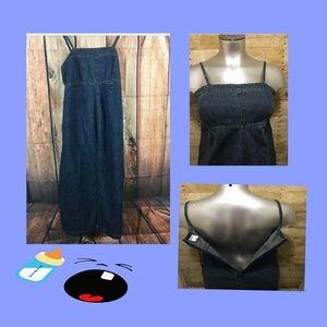 Motherhood Maternity Denim Dress, Sz S, Tie Back